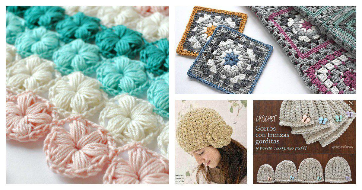 Beautiful Puff Stitch Patterns I Can\'t Wait to Try | Zapatitos ...