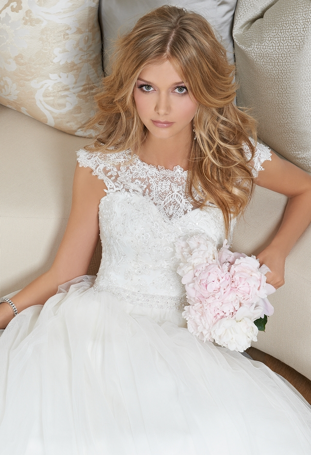 Lace Cap Sleeve Wedding Dress From Camille La Vie And Group Usa I