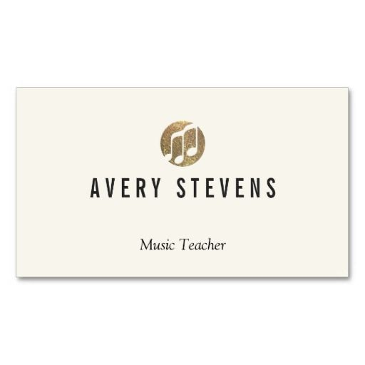 Music Teacher Music Notes Musician Business Card Template - Teacher business card template