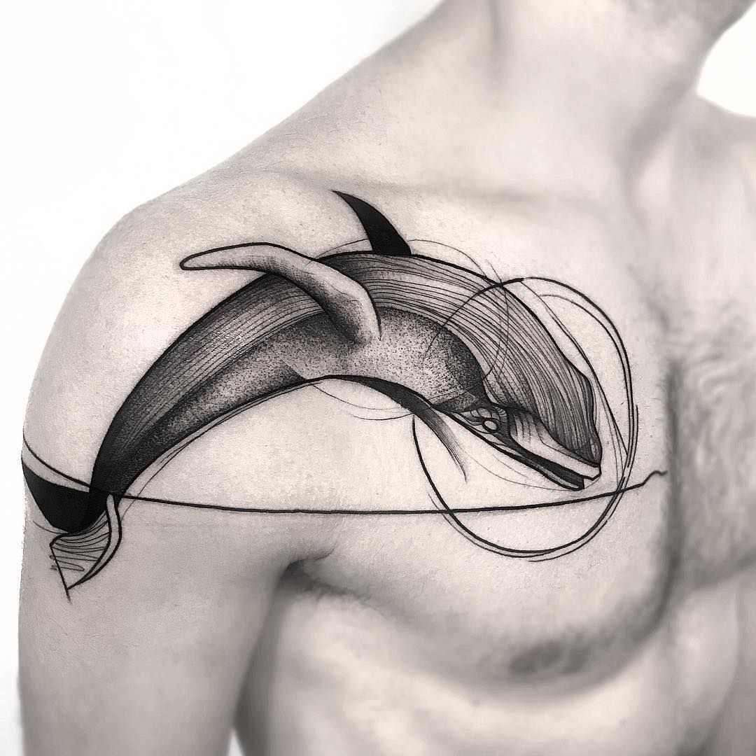blackwork whale tattoo design RemoveTattooTat Whale