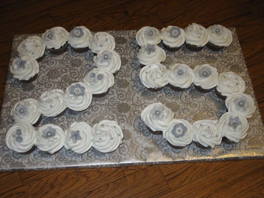 CAKE--25th Anniversary--cupcakes