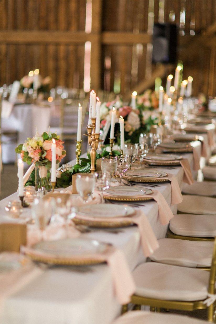 - Elegant Barn Wedding Decor - A Romantic Modern-Vintage ...