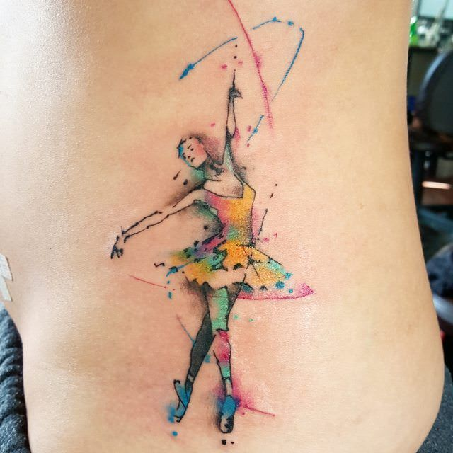 Watercolor Tattoo Designs How Quickly They Fade Ballerina