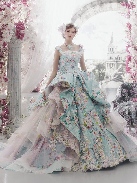 32 Colorful Wedding Dresses By Stella De Libero Wedding Dress Couture Ball Gowns Gowns