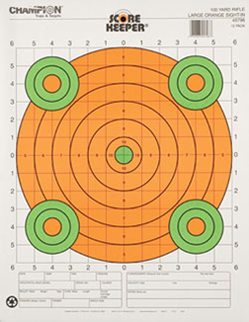 100 Yard Sight Large Orange Per 12 In 2020 Paper Targets Hunting Range Target