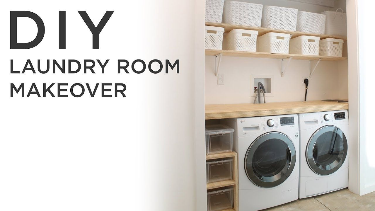 laundry room furniture small diy laundry room makeover youtube room pinterest