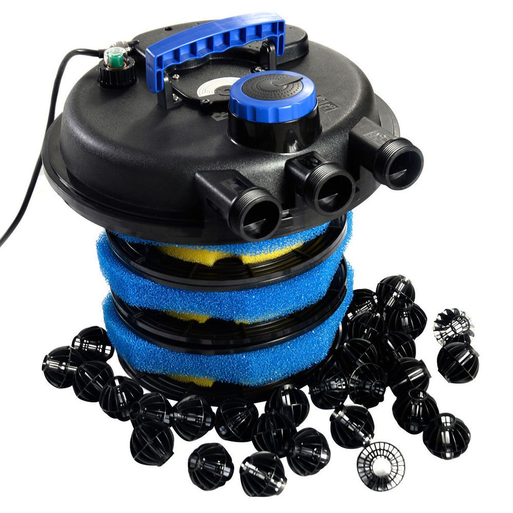 4000 Gallon Garden Koi Fish Pond Water Pump Bio Filter UV