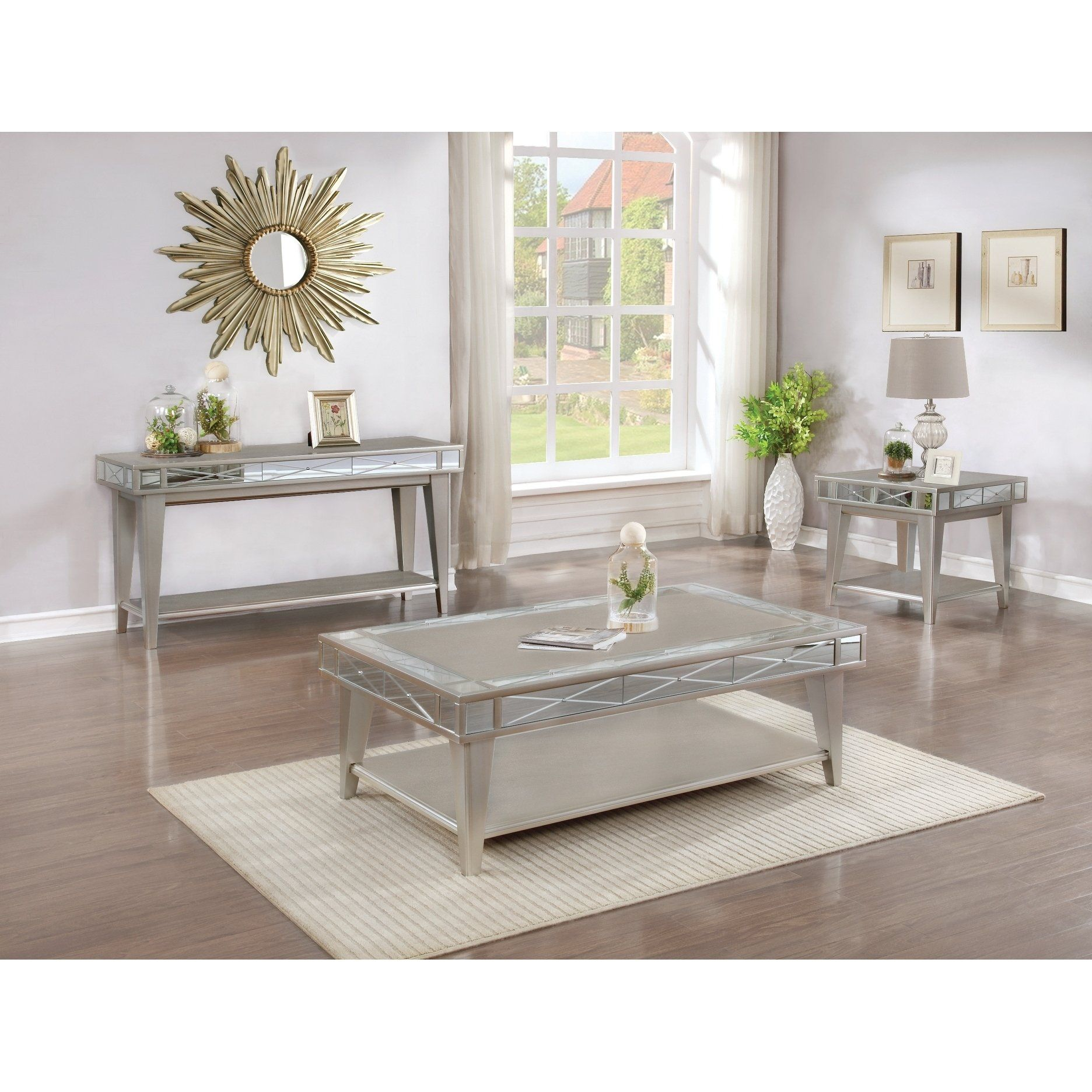 Best Petite Bling Mirrored Coffee Table Gray Coaster 400 x 300