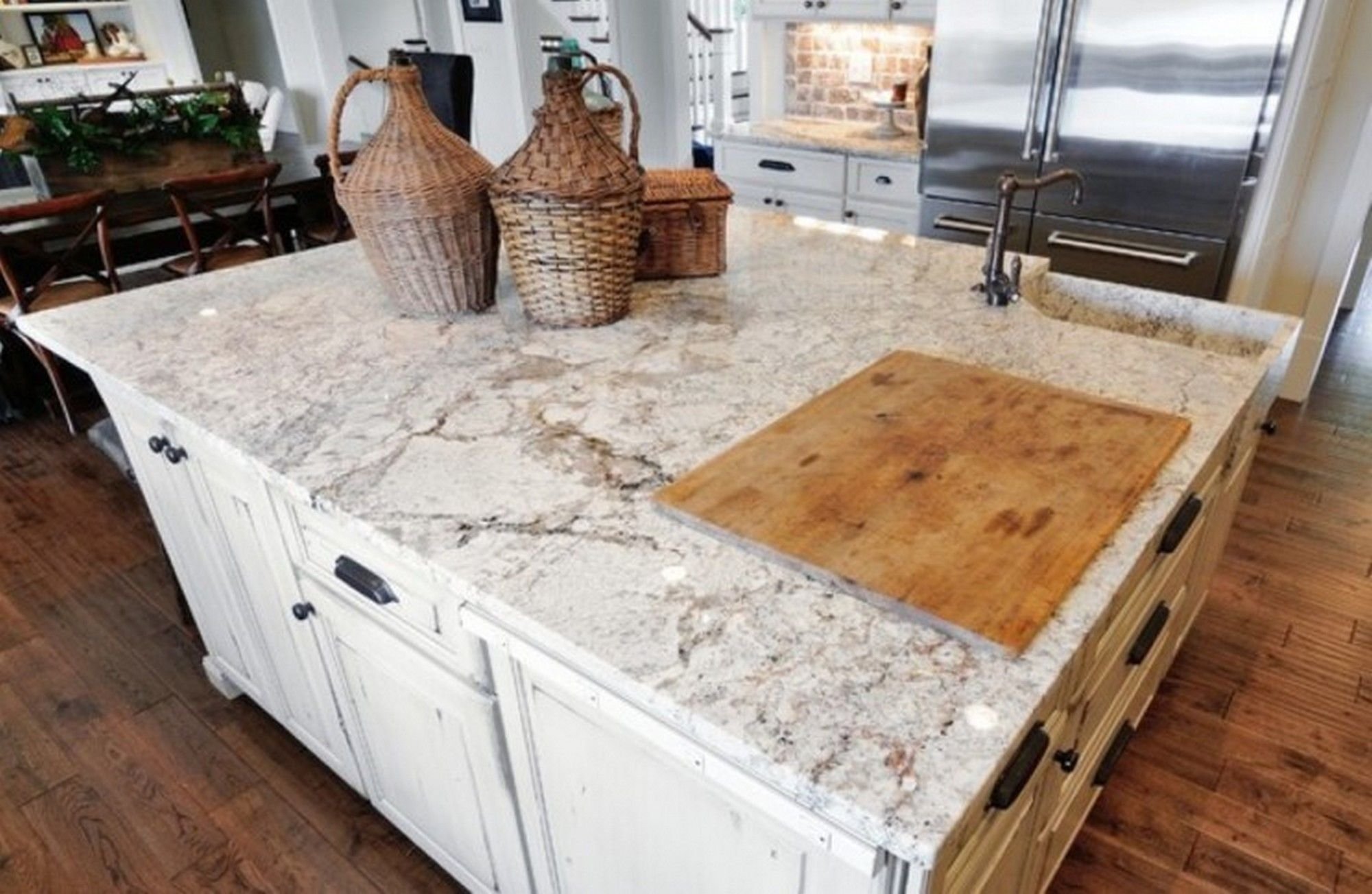 Decor tips awesome white granite countertops with white for Kitchen counter decor