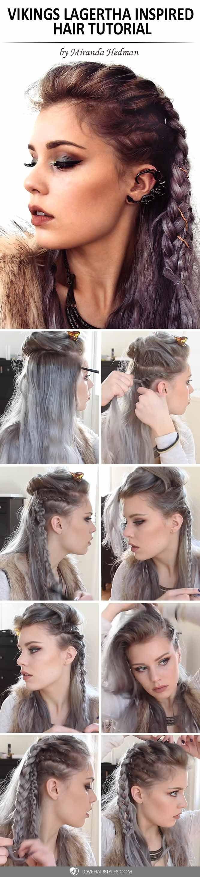 Vikings Lagertha Hair Tutorial Braids Pinterest Hair Hair