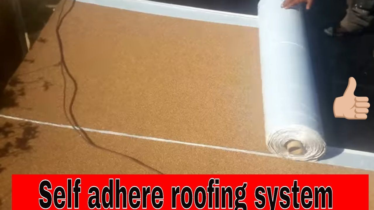 """Self Adhere Roofing for flat roofs , SBS """"Peel and Stick"""