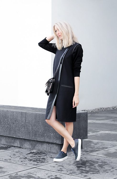 paris2london:  (via Outfit: Helmut Lang dress | My Dubio)   i follow back similar blogs ❋