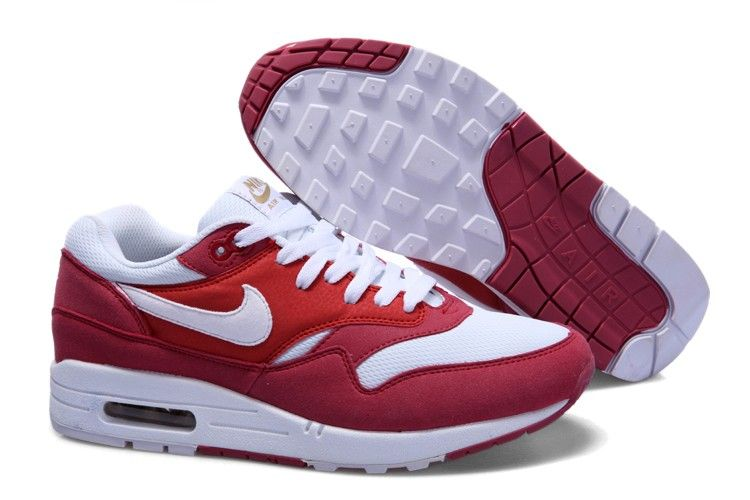 76c7f1f140 Nike Air Max 1 Premium Womens Running Shoes Red White UK Online Sale ...