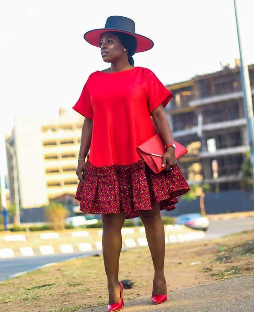 Lady Red Flare Dress