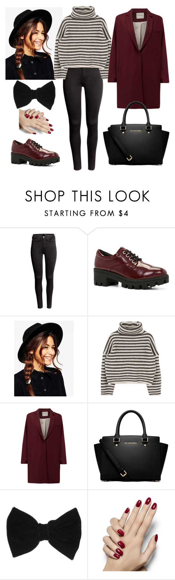 """#155"" by xlaurajuliax ❤ liked on Polyvore featuring H&M, ALDO, ASOS, American Vintage, MICHAEL Michael Kors and claire's"