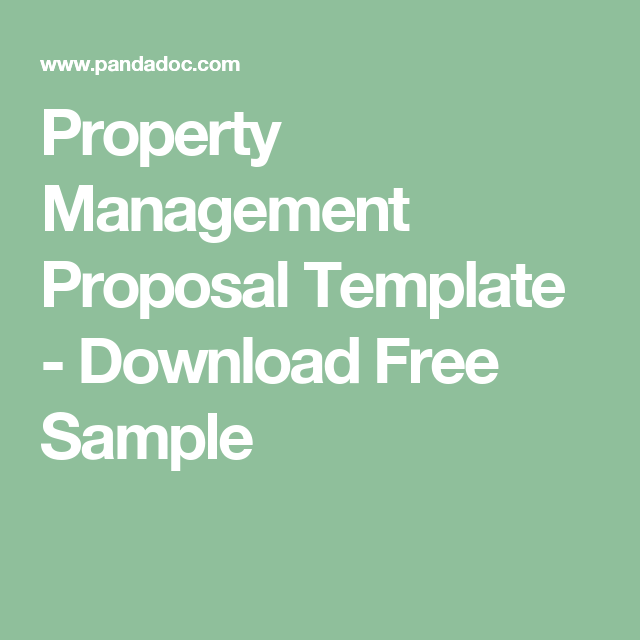 Property Management Proposal Template  Download Free Sample