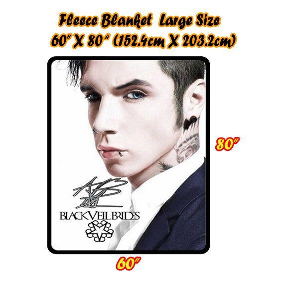 NEW Hot Customized Andy Biersack Black Veil Brides Blanket