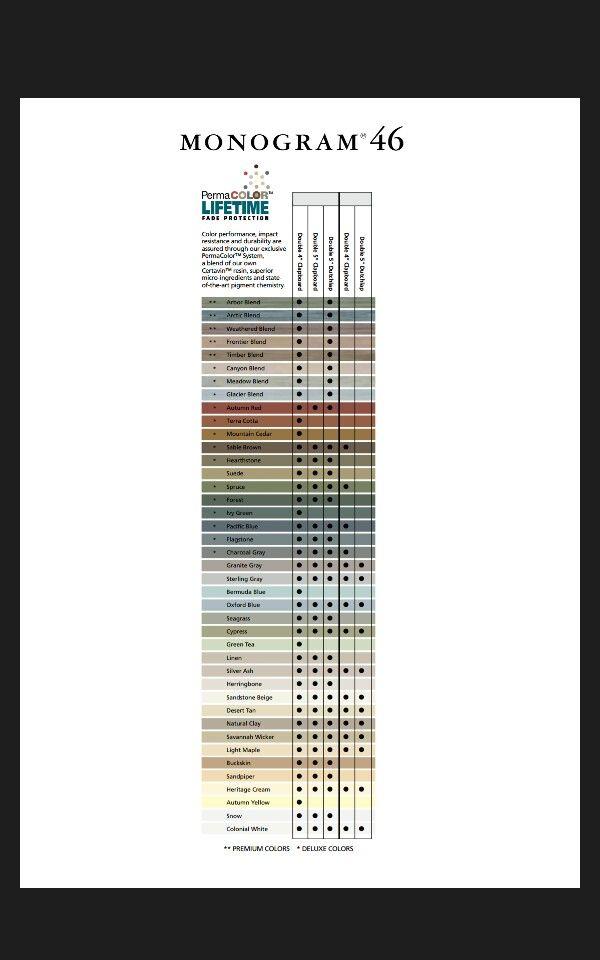 Certainteed monogram vinyl siding colors also possible rh pinterest