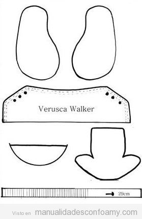 Patrón zapatillas Converse goma eva 2 | fofuchas | Pinterest ...