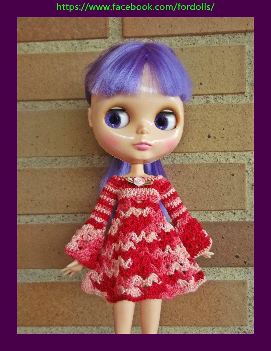 Vestido para muñeca Blythe o Pullip de Fordollsboutique en Etsy