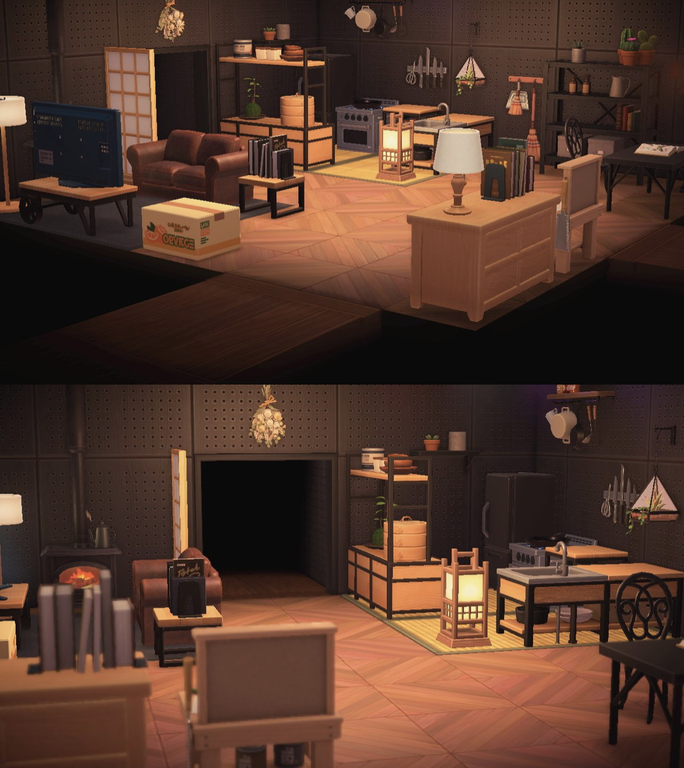 My Cozy Kitchen And Living Room Ac Newhorizons New Animal Crossing Animal Crossing Animal Crossing Pocket Camp