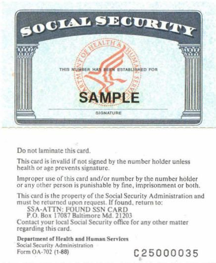 pinsheron mcmillion on template  social security card