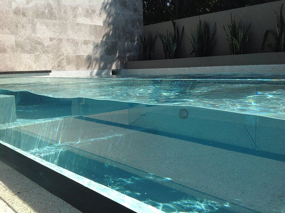 Invisible Walls Indoor Pool Design Swimming Pool Construction Concrete Swimming Pool