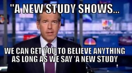 A new study shows...