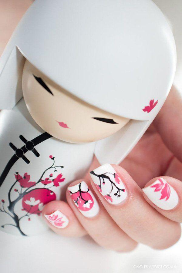 65 Japanese Nail Art Designs | Japanese culture, Kokeshi dolls and ...