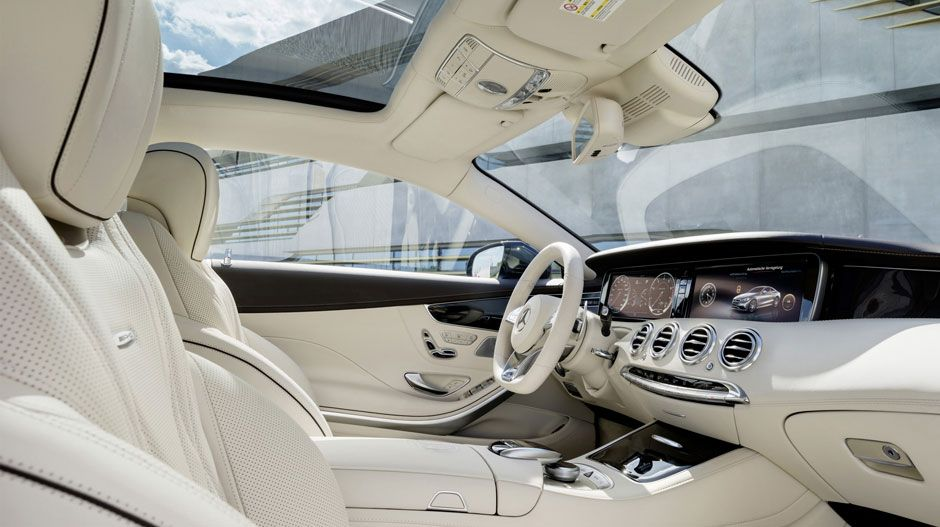 2015 S65 Amg Coupe Interior In White With A Dark Wood Trim With