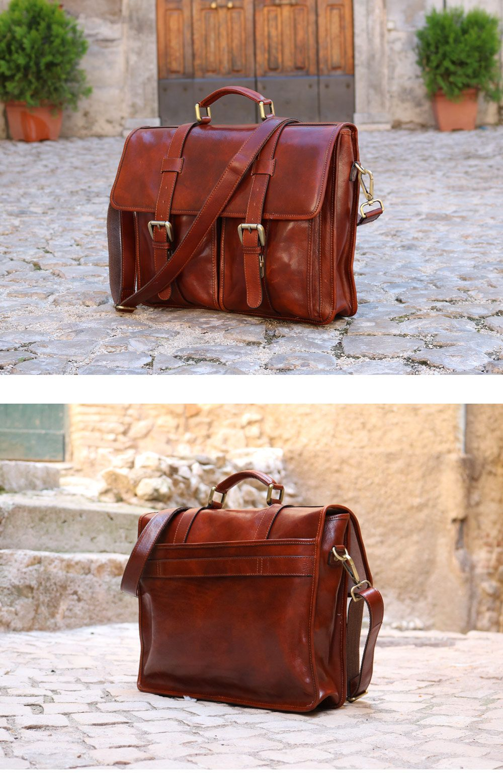 The Floto Firenze Buckle Strap Briefcase is handcrafted in Italy using hand  stained full grain leather. 5966c3147b105