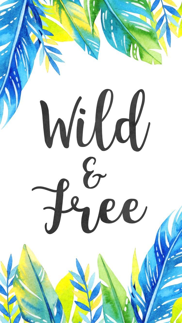 Wallpaper Background Summer Quote Tropical Wild And Free