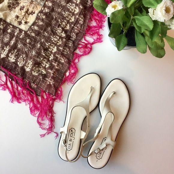 3b7395ff74fb2 Lia Bijou Shoes - White Lia Bijou sandals