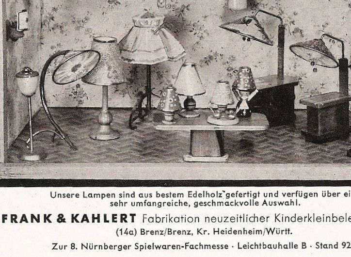 Frank & Kahlert lamps