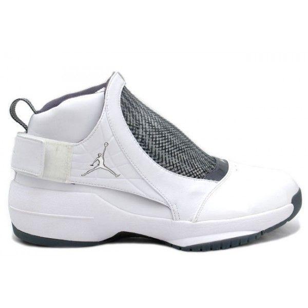 307546 102 Air Jordan 19 White / Chrome / Grey http://www.
