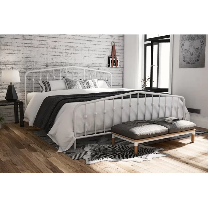 Bushwick Platform Bed King metal bed, Furniture, Metal beds