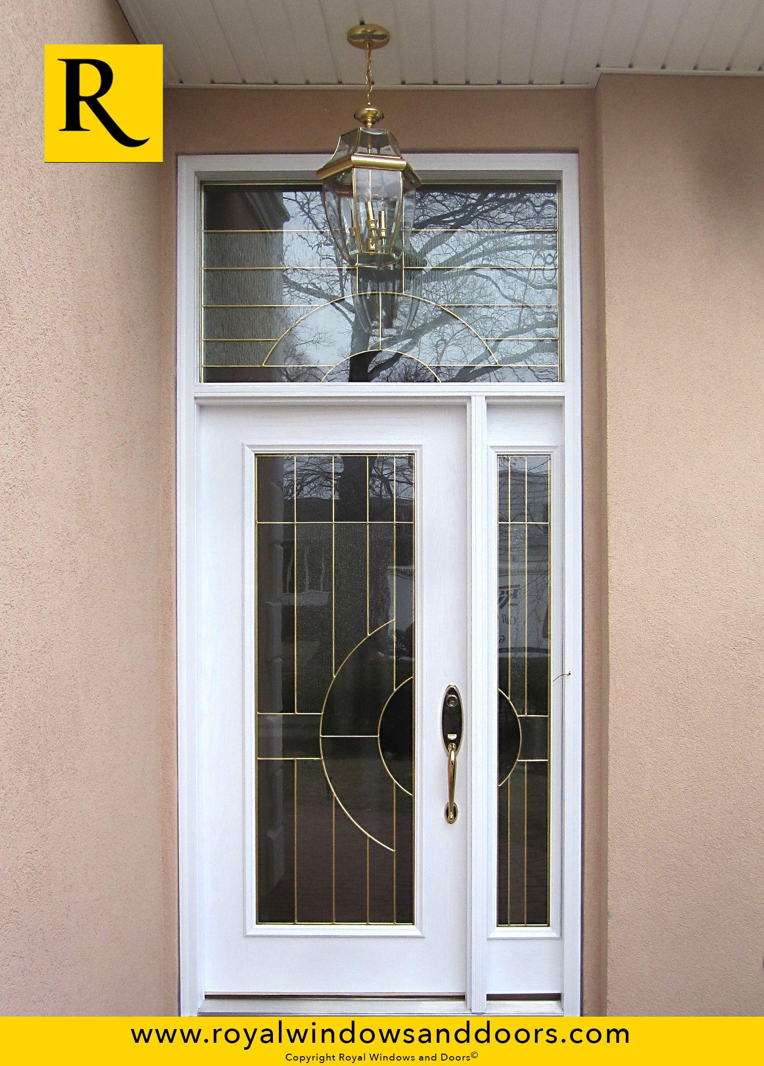 Single entry door in white color designer glass one for Single entry door with glass