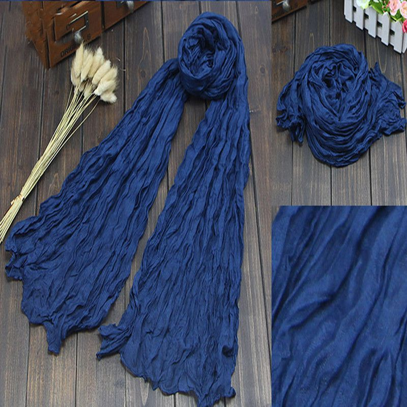 Brand Silk Scarves Solid Candy Color Elegant Women Soft Wrap Shawl Long Stole Spring Winter Scarf