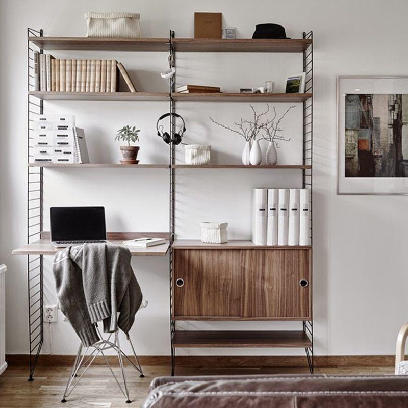 Wandrek met bureau Medium zwartwalnoot Livingdesign httpswww