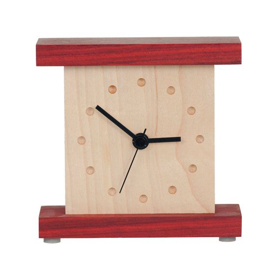 Beautiful Small Clock Crafted From Maple And Redheart Via Etsy Glamorous Small Wall Clock For Bathroom Design Ideas