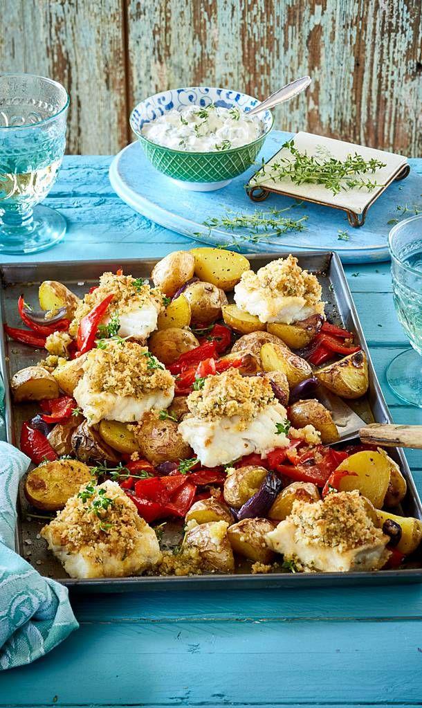 Kartoffel-Fisch-Gemüse vom Blech Rezept | LECKER #fischrezepte