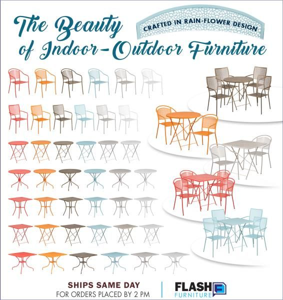 Flash Furniture   Indoor/Outdoor Patio Dining Sets