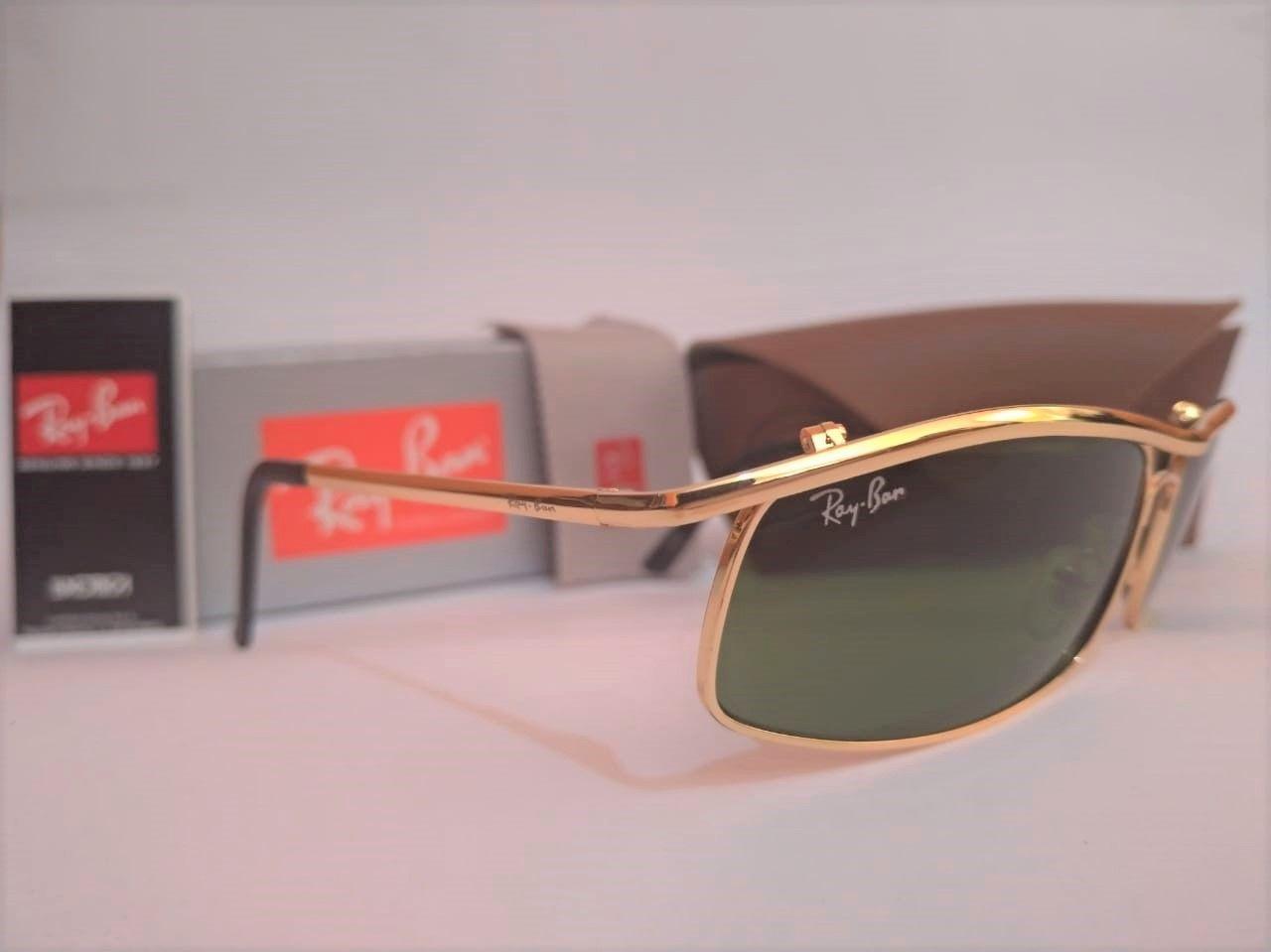 Oculos De Sol Ray Ban Demolidor 3339 Dourado Um Classico Super