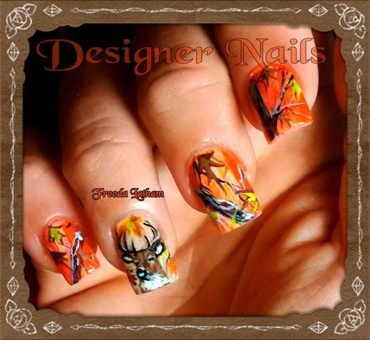 Blazing orange camo with deer portrait by freedalatham from nail blazing orange camo with deer portrait by freedalatham from nail art gallery prinsesfo Image collections