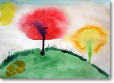 Easy Aquarelle Painting Exercise for kids!