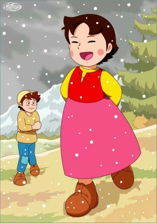 Heidi and peter heidi of the swiss alps pinterest bande dessin e et dessin - Haidi dessin anime ...