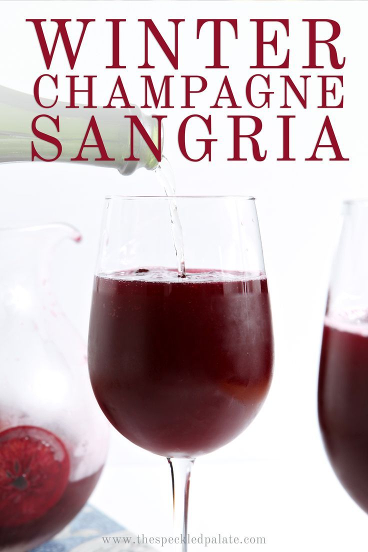 Winter Champagne Sangria