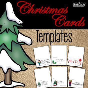 Christmas Card Templates Christmas Card Template Christmas Card Writing Christmas Cards