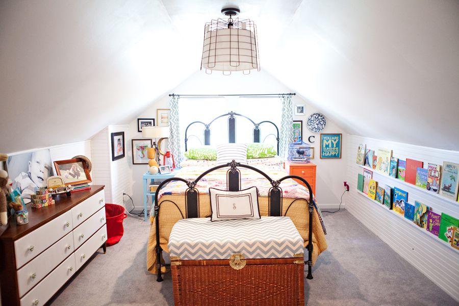 ceiling is slanted just like bonus room  make cab/storage on walls