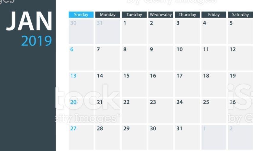 January 2019 Desk Calendar #JanuaryCalendar #January2019Caledar